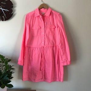 Gap Bright Pink Shirt Dress